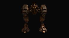 机械机器人的争斗 免版税库存照片