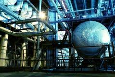 机械用管道输送蒸汽管涡轮 免版税库存照片
