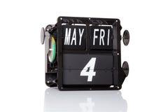 机械被隔绝的日历减速火箭的日期 图库摄影