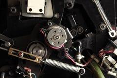 机械设备例如复杂机械的片段 免版税图库摄影