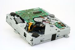 机械雷射唱片的装入程序 库存照片