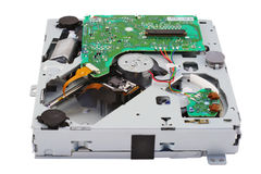 机械雷射唱片的装入程序 库存图片