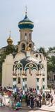 水机盖教堂祝福  三位一体St Sergius拉夫拉 Sergiev Posad, 免版税库存图片