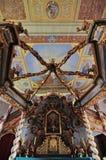 机盖法坛在三位一体教会里在恰普利内克 图库摄影