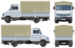 机盖货物送货卡车向量 免版税库存图片