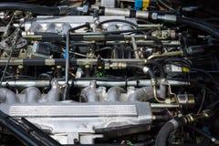 机舱(引擎)捷豹汽车XJS V12 免版税库存照片