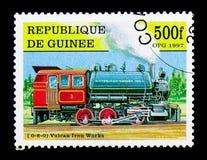 机车0-6-0沃尔坎火山铁运作, serie,大约1997年 免版税库存图片