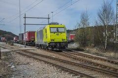机车119 010-6,阿尔法火车 免版税图库摄影