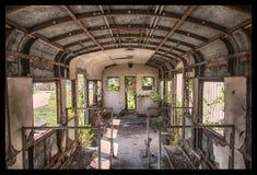 朽烂火车  库存图片