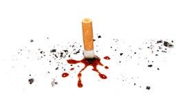 杀害抽烟 库存照片