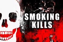 杀害抽烟 库存例证