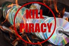 杀害海盗行为 免版税库存图片