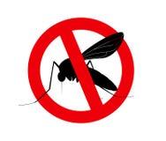 杀害蚊子标志 皇族释放例证