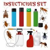 杀虫剂集合 免版税库存图片
