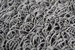 杂乱卷曲塑料纤维纹理  库存图片
