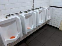 杂乱洗手间男盥洗室 库存图片