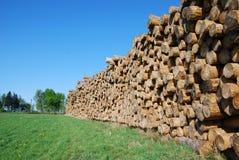 杂乱的一团木头 库存图片