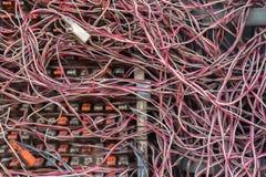 杂乱缆绳 免版税库存照片