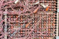 杂乱缆绳 库存图片