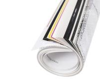 杂志卷起 免版税库存照片
