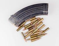 杂志和子弹 库存照片