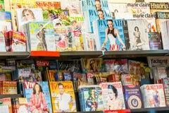 杂志和报纸媒介新闻 免版税库存照片