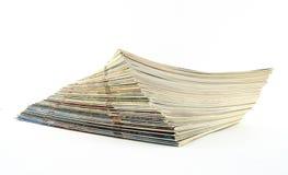 杂志堆 免版税库存照片