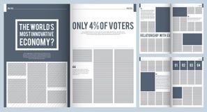 杂志布局 现代杂志广告小册子封面设计大模型模板与地方的文本和照片的 库存例证
