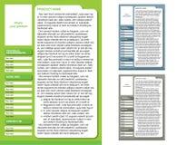 杂志格式模板(3上色页) 免版税库存照片
