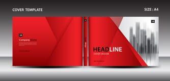 杂志的,广告,介绍,年终报告,书,传单,海报,编目,打印装置红色盖子设计模板 皇族释放例证