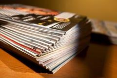 杂志表 图库摄影