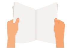 杂志阅读程序 免版税库存照片