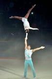 杂技体操2012年 免版税图库摄影