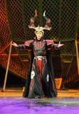 杂技艺术家未认出北京的马戏团 免版税库存照片