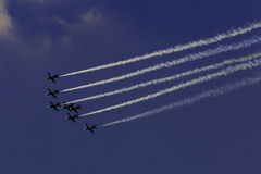 杂技队Breitling喷气机队 免版税图库摄影