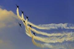 杂技队Breitling喷气机队 库存图片