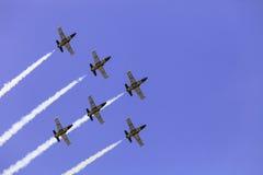 杂技队Breitling喷气机队 免版税库存图片
