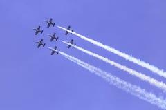 杂技队Breitling喷气机队 图库摄影