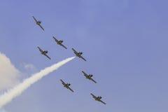 杂技队Breitling喷气机队 库存照片