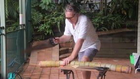 杂物工切口竹子1 影视素材