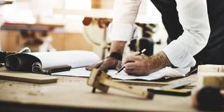 杂物工职业技巧木匠业概念 库存照片