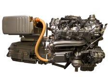从s班的默西迪丝的混合动力车辆引擎 免版税库存图片
