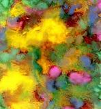 杂色树胶水彩画颜料油漆 免版税库存照片