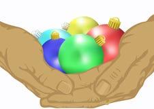 杂色球的圣诞节 免版税库存照片
