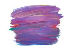 杂色的白涂料,五颜六色的树胶水彩画颜料冲程  溶于水背景的纹理 免版税库存照片