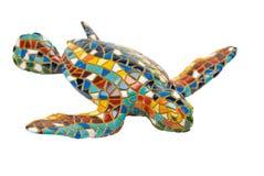 杂色陶瓷的草龟 免版税库存照片
