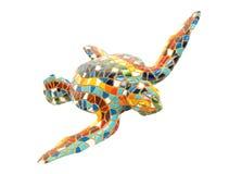 杂色陶瓷的草龟 库存图片