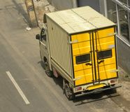 杂货送货卡车 图库摄影