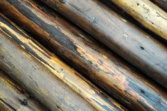 杆弄湿了木 图库摄影