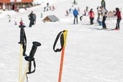 杆滑雪 库存照片